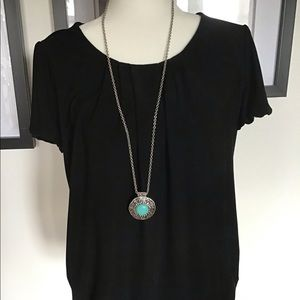 Jewelry - Necklace with turquoise pendant